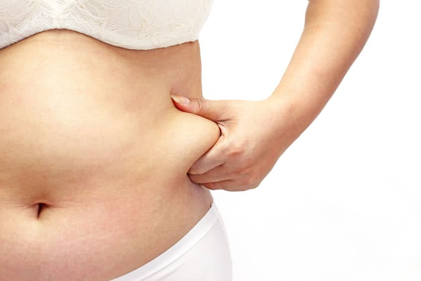 woman belly fat