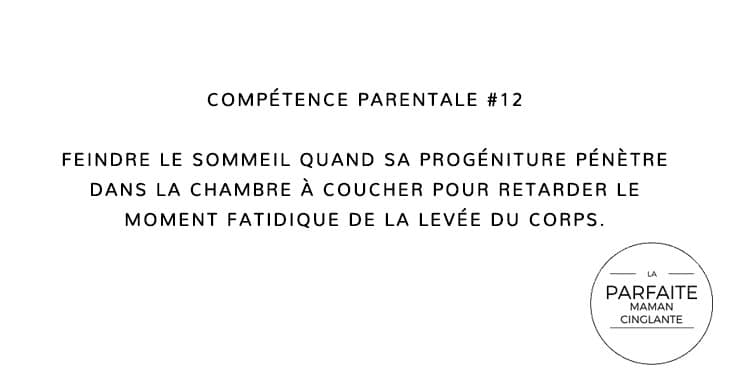 COMPETENCE PARENTALE 12 FEINDRE SOMMEIL