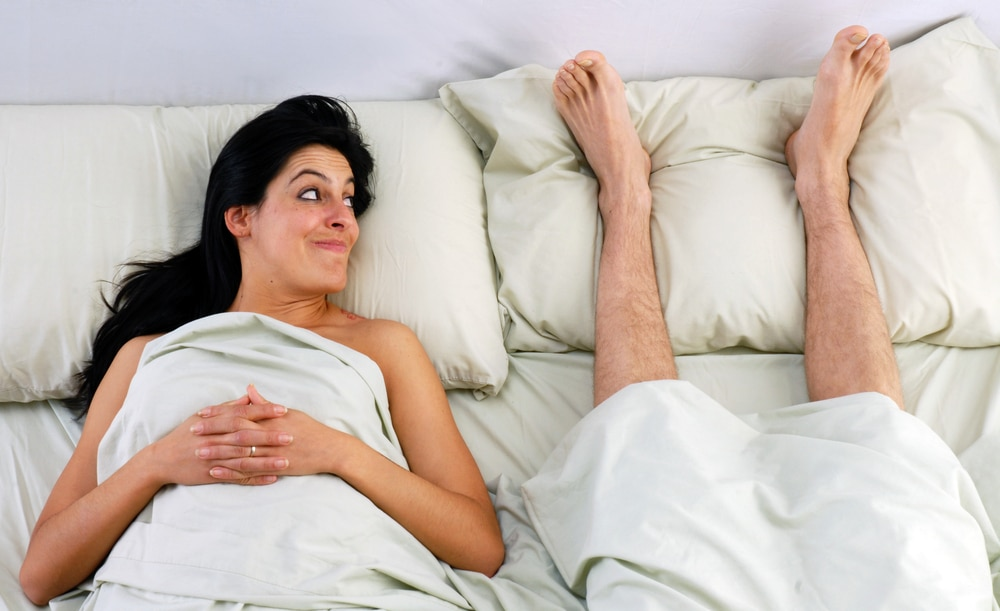 woman man in bed