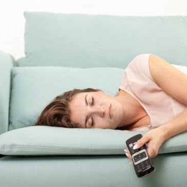 woman sleep on couch