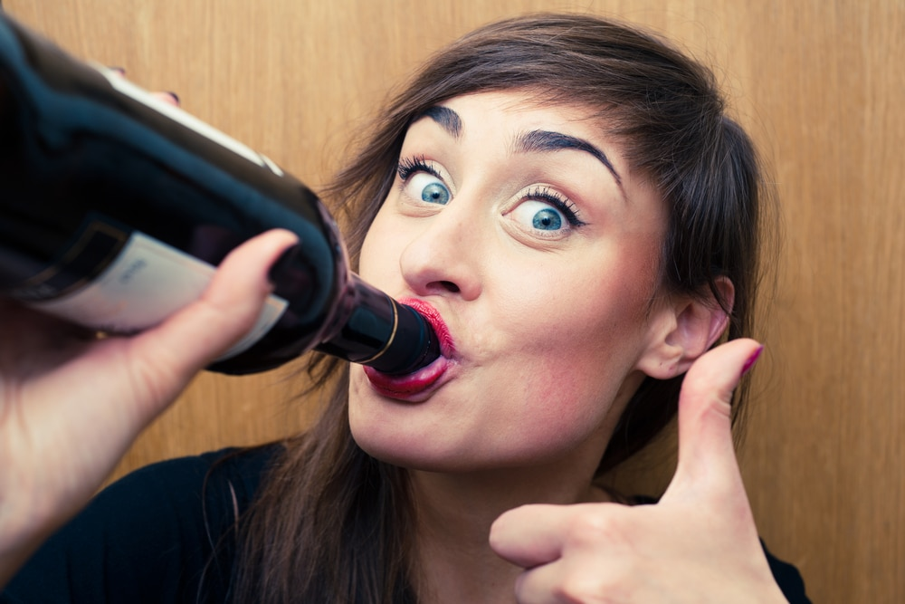 woman drink wine