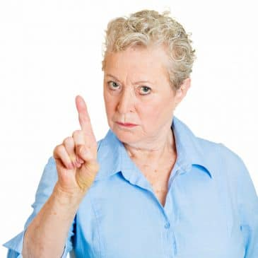mature woman angry