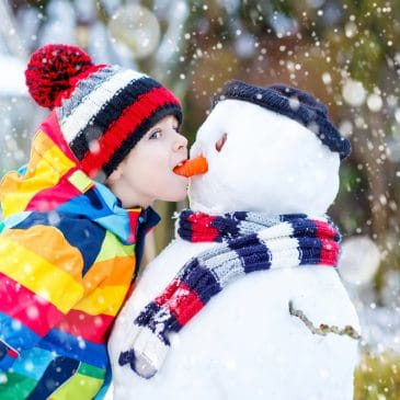 kid winter snowman