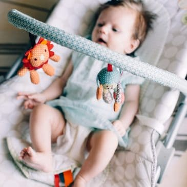 baby in rocking chair