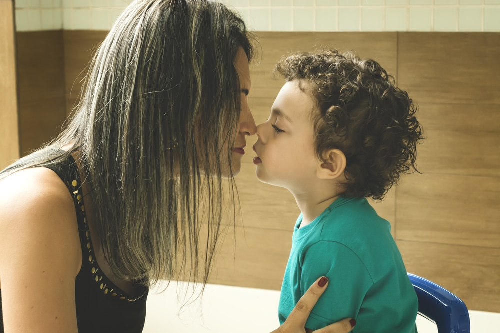 woman and son