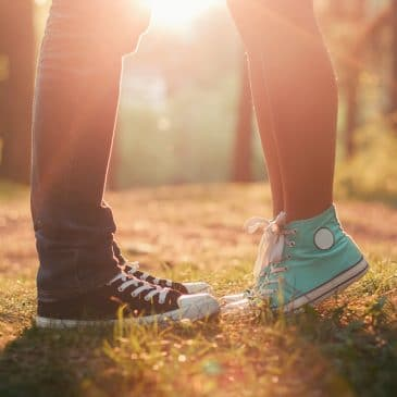 young couple shoes