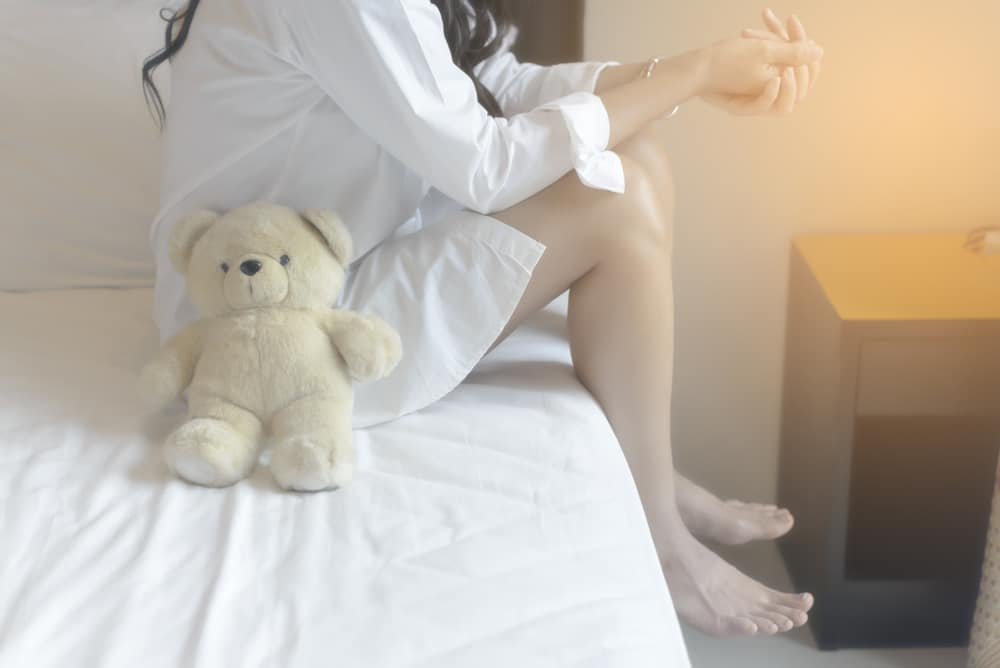 woman alone with bear