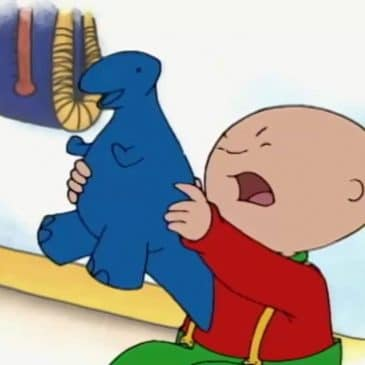 caillou angry