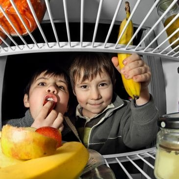 kids in fridge