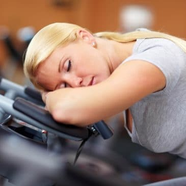 woman sleep on training machine
