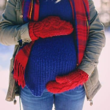 pregnant woman winter