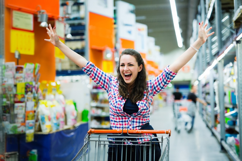 enjoyed woman in grocery