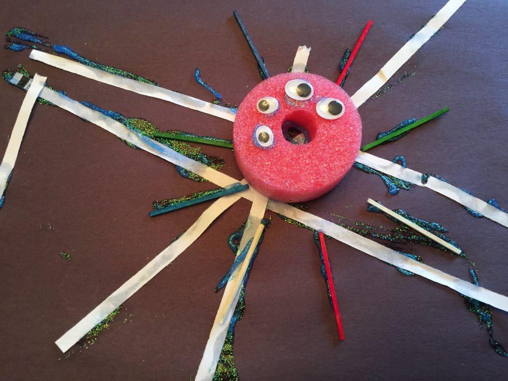 bricolage araignée gribouille famille
