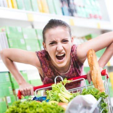 maman en colere épicerie