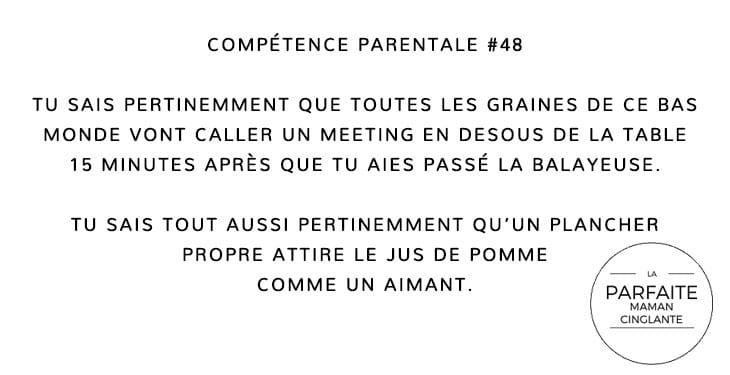 COMPTENCE 48 MÉNAGE