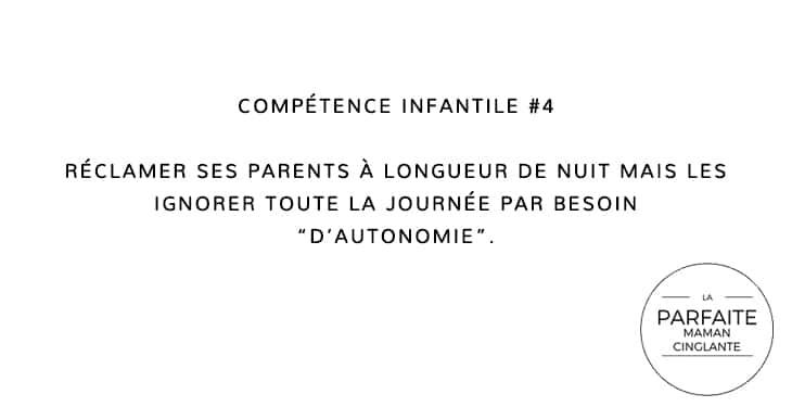COMPÉTENCE INFANTILE 4 IGNORER
