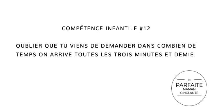 COMPETENCE INFANTILE 12 ON ARRIVE