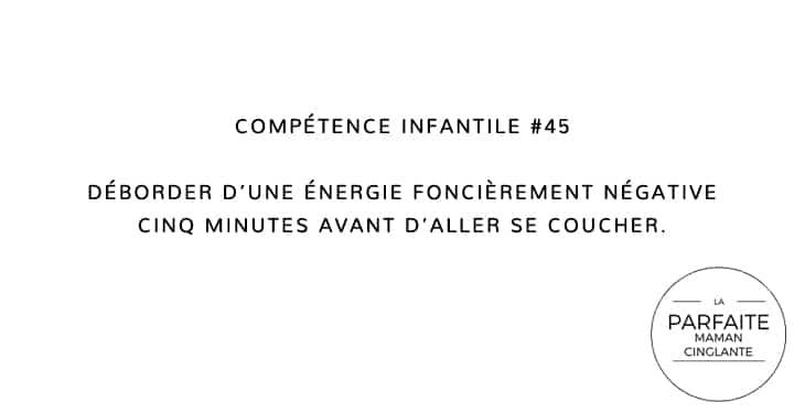 COMPTENCE INFANTILE 45 ÉNERGIE DODO