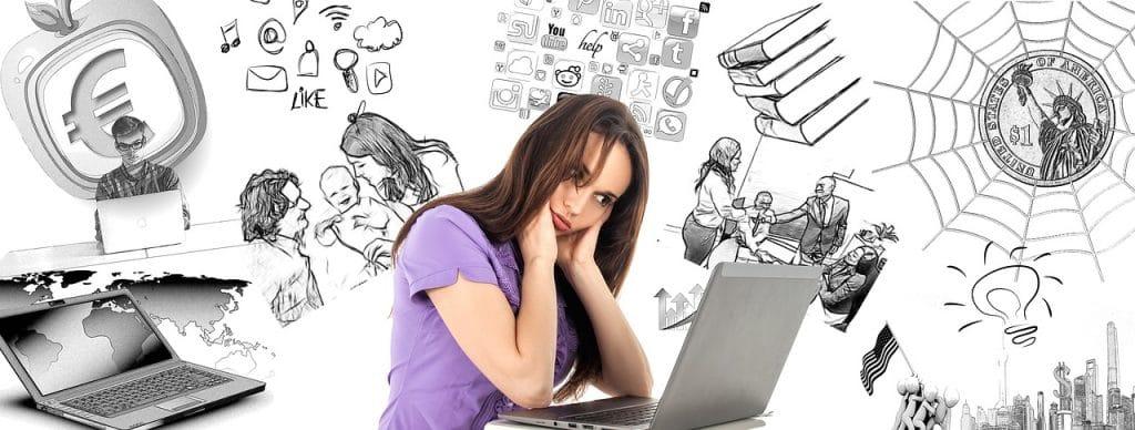 femme ordinateur emploi