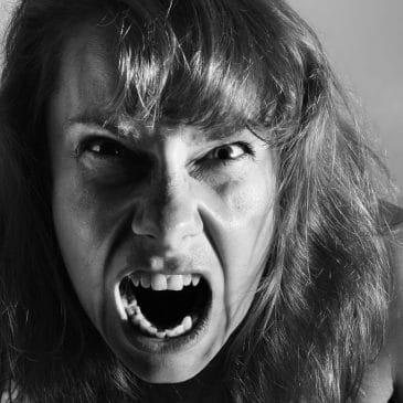 furious woman