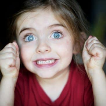 fille excitée