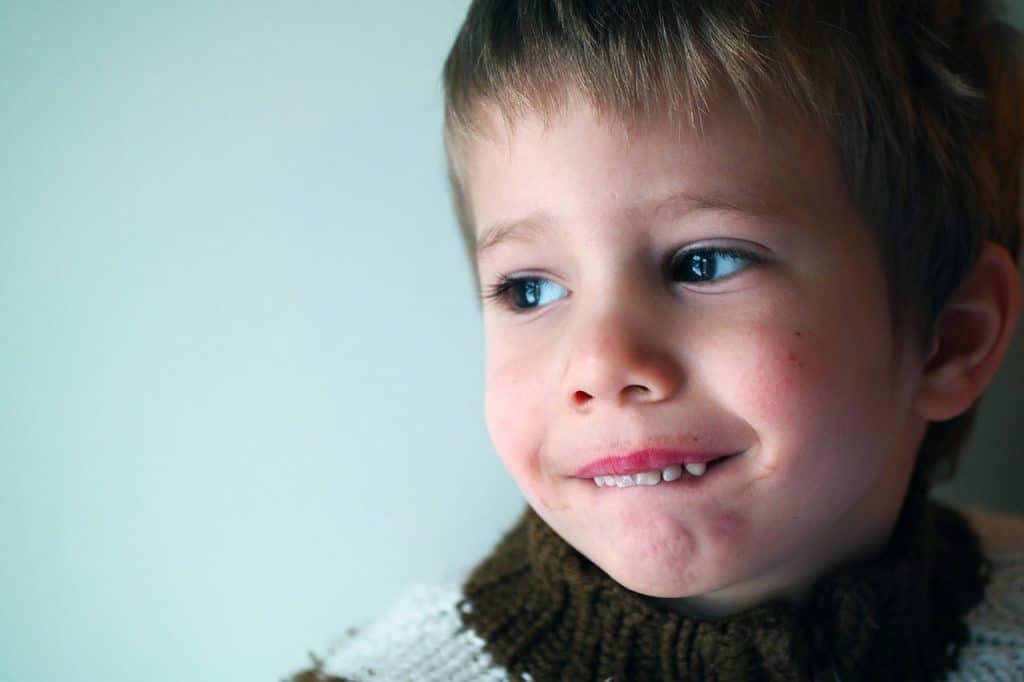 little boy open mouth