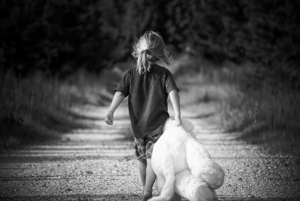 enfant ourson route