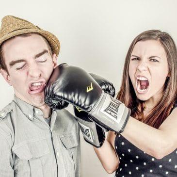 couple homme femme boxe