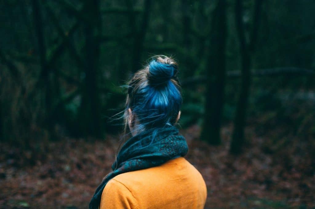 femme forêt noire