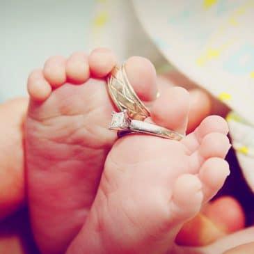 pied bébé mariage