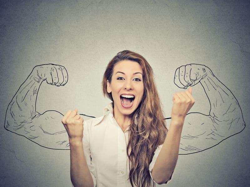 woman success happy