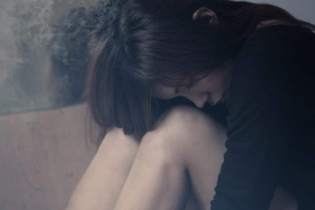 woman sad crying