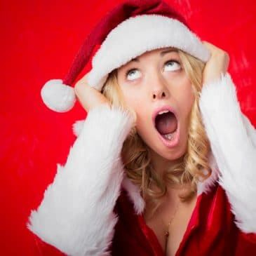 woman christmas stressed