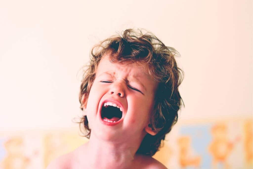 angry kid scream