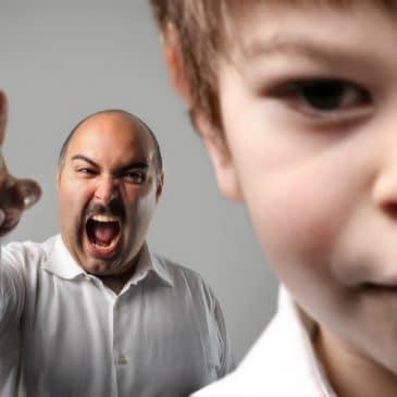 man shout at boy