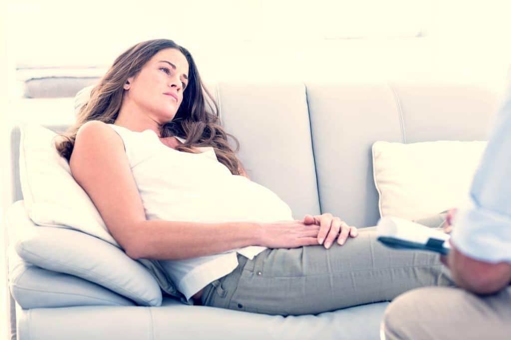 pregnant woman thinking