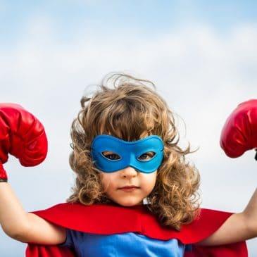 little boy superhero