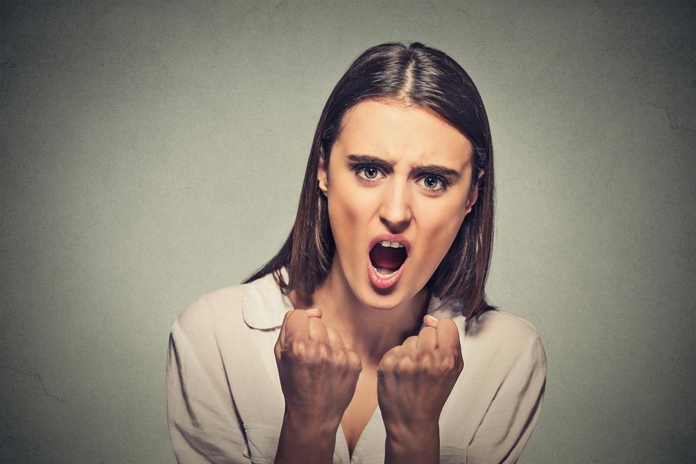 woman furious