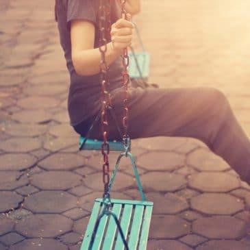 woman alone swing