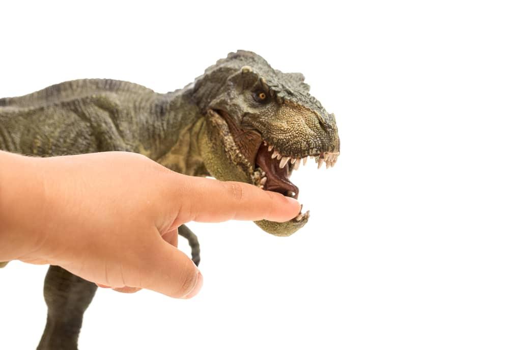 dinosaur finger