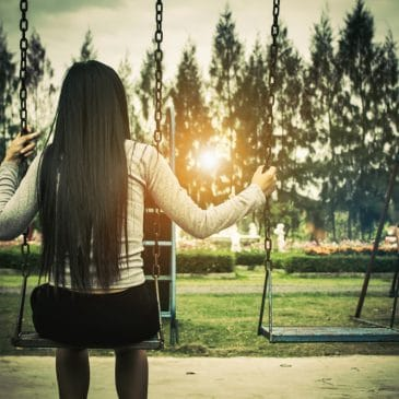 woman swing outdoor
