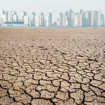 planet pollution concept