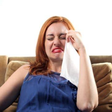 woman sobbing