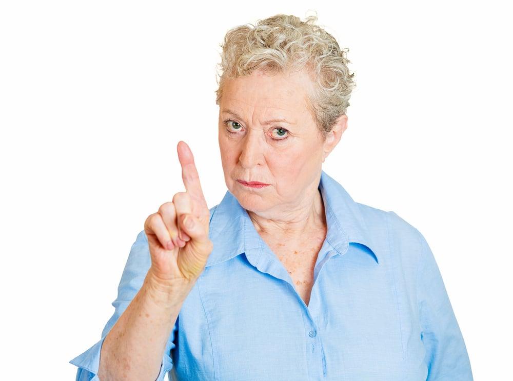 mature woman angry