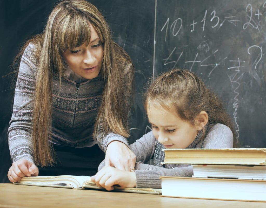 teacher with kid