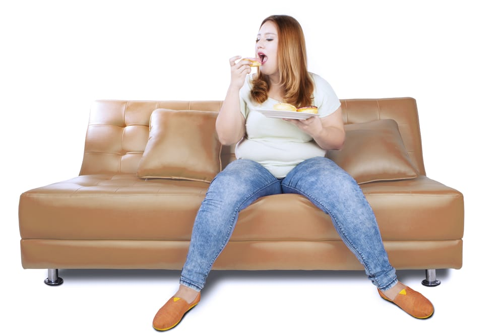 woman with belly on couch