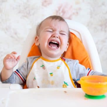 baby crying eating