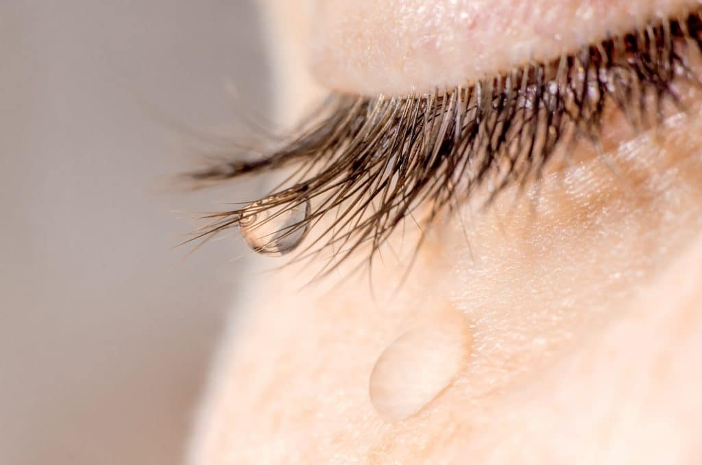 woman tear