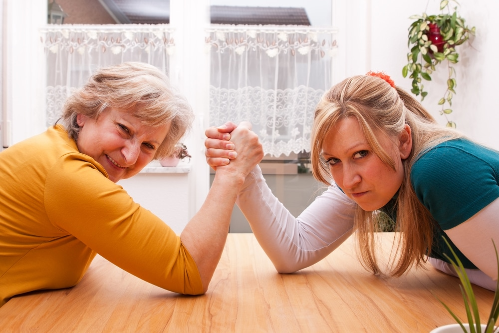 mother daughter fight