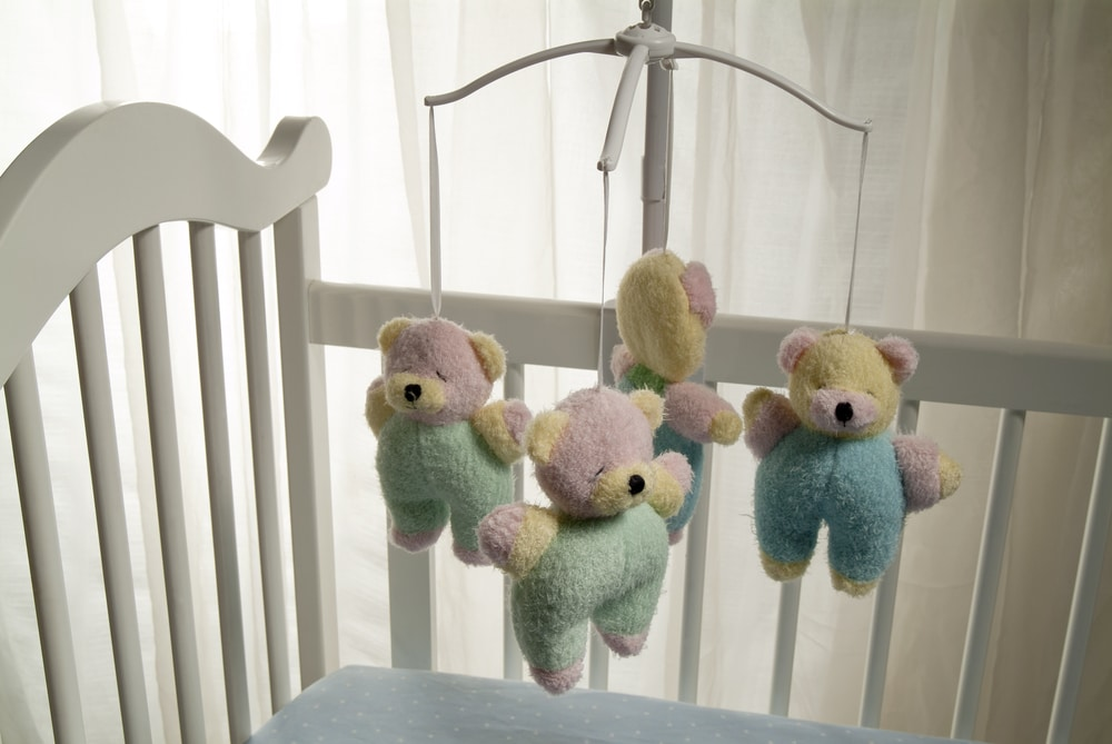 empty baby crib